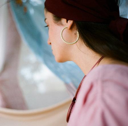 Crescioni Belle Earrings - Palm