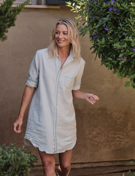 Frank & Eileen Mary Button Up Dress - Distressed Super Bleached