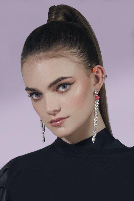 Joomi Lim Resin Rose & Crystal Ear Cuff