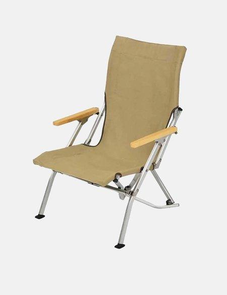 Snow Peak Low Folding Chair - beige