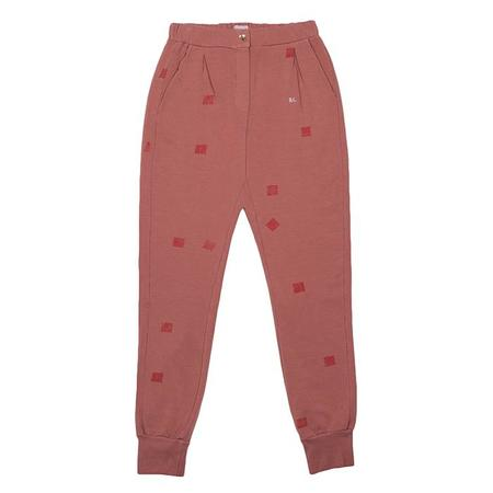 Bobo Choses Sweatpants With Square Print - Brown