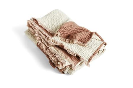 Hay Crinkle Plaid Throw - Cappuccino
