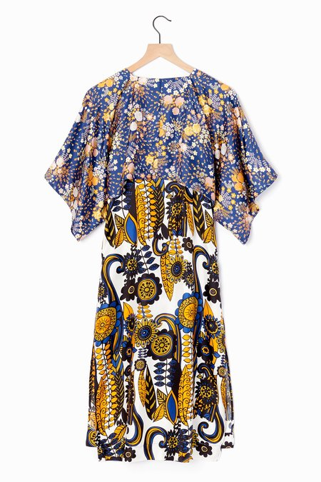 La Prestic Ouiston Biarritz Dress - Blue/Marigold