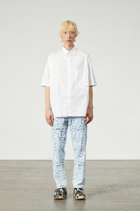 Études Studio Illusion S/S Monagram Shirt - White