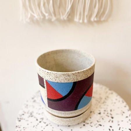Blue Pen Ceramics Planter with Saucer
