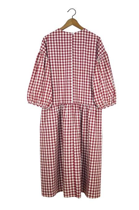 APRIL MEETS OCTOBER May Dress - Burgundy Gingham