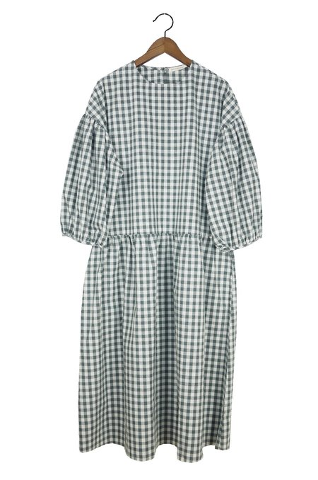 APRIL MEETS OCTOBER May Dress - Gray Gingham