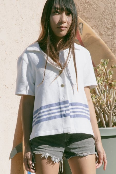 Jess Meany Laguna Lounge Shirt -  French Stripe