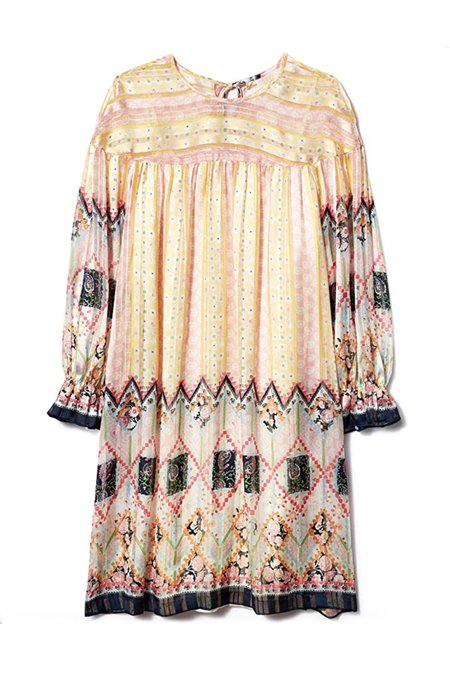 Anna Sui Botanical Patchwork Tunic Dress