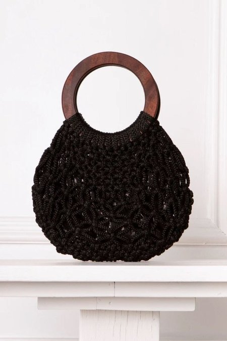 Accountrements LA Anna Macrame Bag - Black