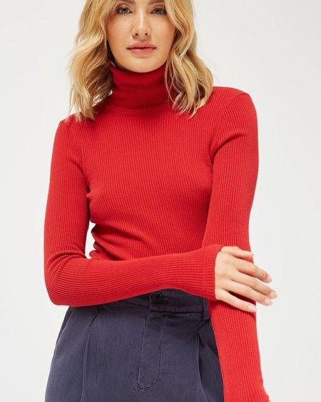 Lacausa Sweater Rib Turtleneck - Mustang