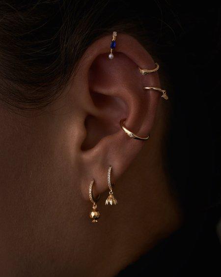 Pamela Love Eye Huggie EARRINGS - 14k yellow gold
