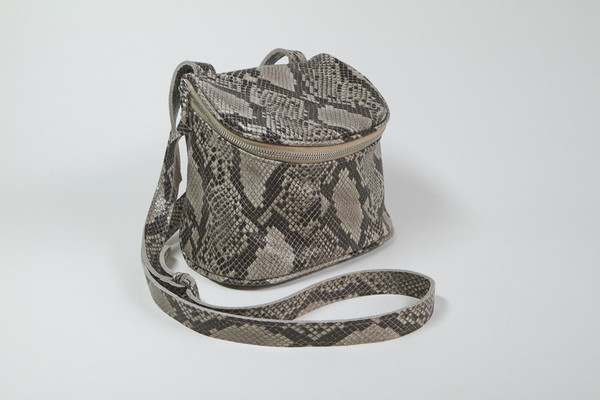 Clyde Camera Bag in Python Leather
