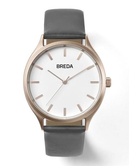 Breda Asper Watch Rose Gold Grey