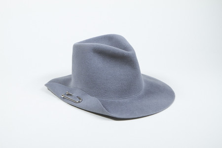 Clyde Pierced Hat in Dove Grey