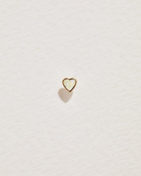 Pamela Love Heart Stud - 14k Yellow Gold