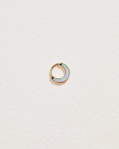 Pamela Love Piercing 6mm Inlay Clicker earrings - 14k yellow gold