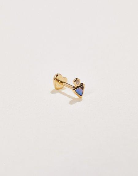 Pamela Love Triangle Dot Stud - 14K Gold