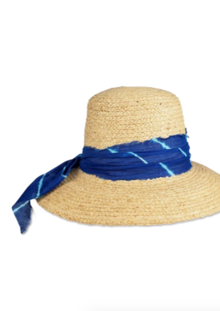 Hat Attack Canopy Hat - Tie Dye Blue Scarf