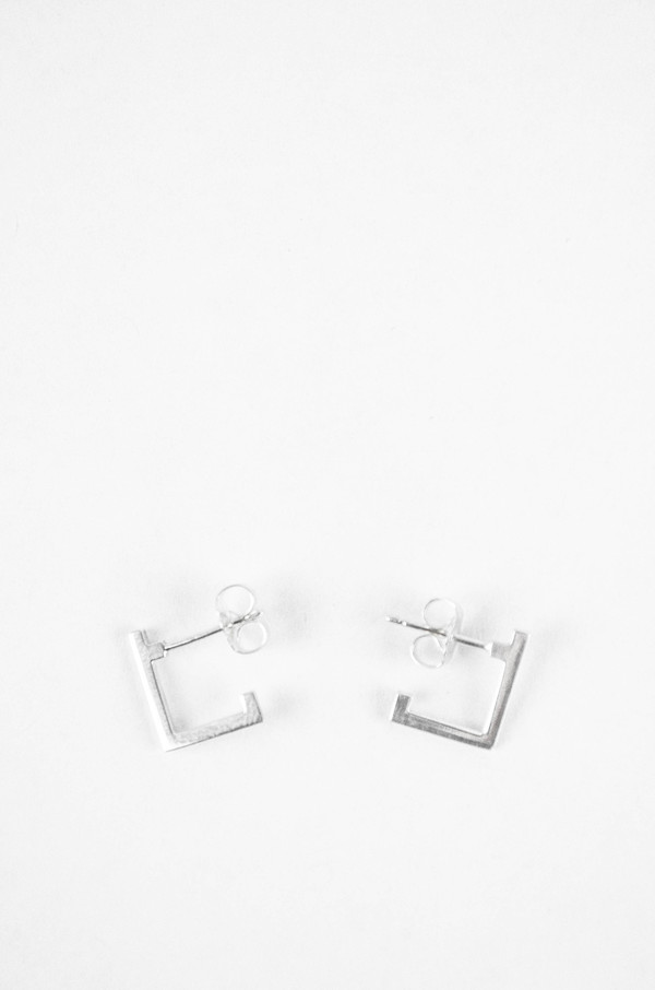 Still House Sterling Silver Carre Earrings