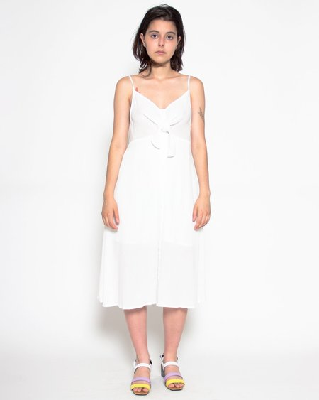 Persons Janet Crinkle Midi Dress - Ivory