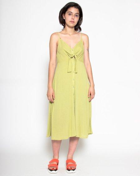 Persons Janet Crinkle Midi Dress - Jade