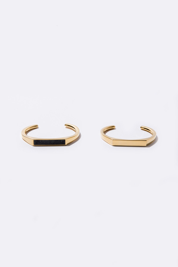 Edge of Ember Angled Cuff - Gold