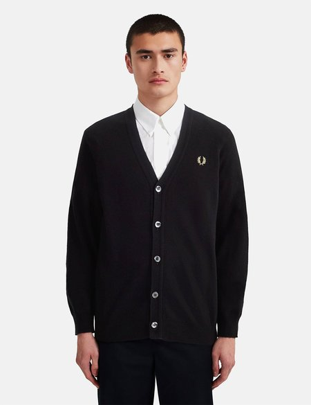 Fred Perry Reissue Lambswool Cardigan - Black