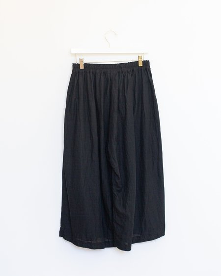 ICHI ANTIQUITES Cotton Linen Pants - Black