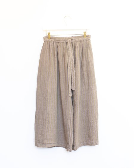 ICHI ANTIQUITES Stripe Color Dye Pants - Beige/Lavender