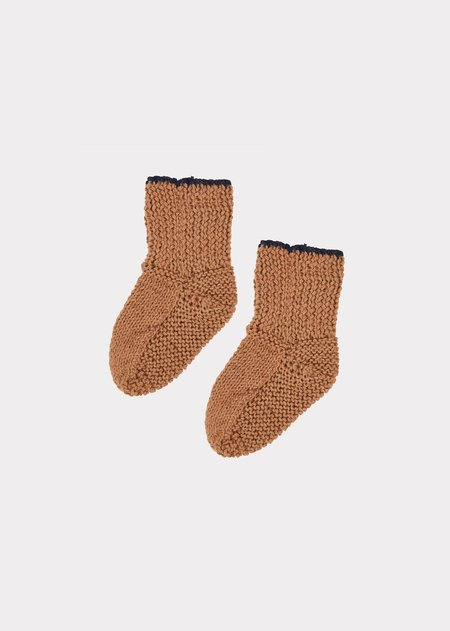Kids Caramel Ledbury Baby Booties 2 - Brown