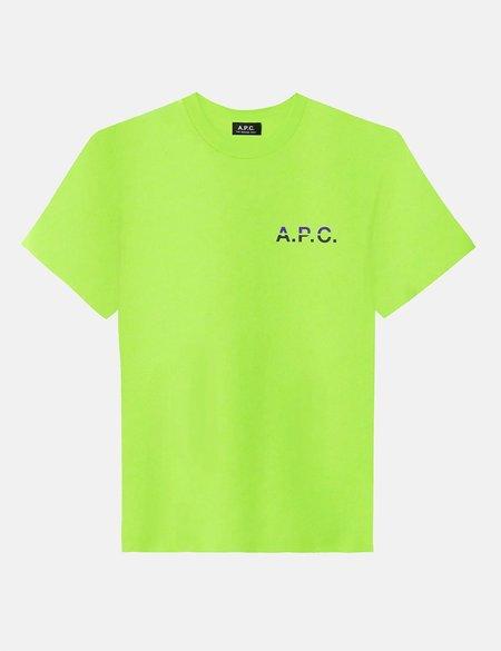 A.P.C. David T-Shirt - Flashy Green