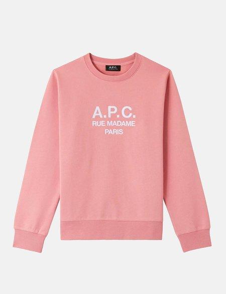A.P.C. Rufus Sweatshirt - Rose