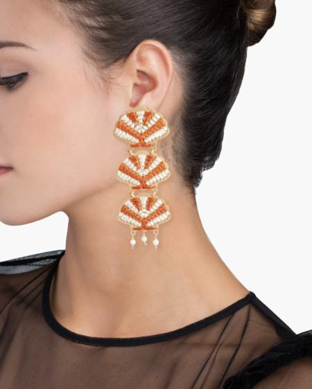 Mercedes Salazar Seashell Earrings