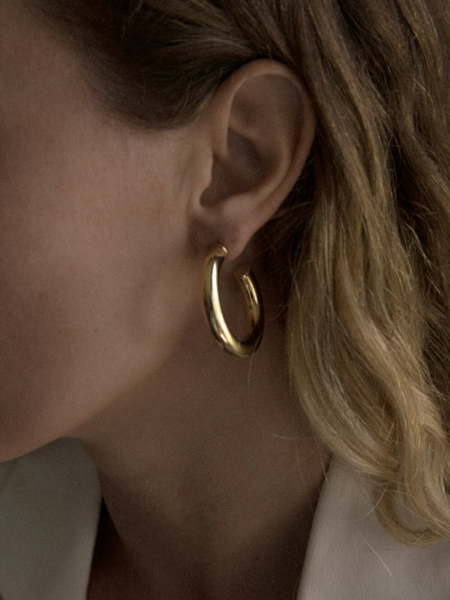 Young Frankk Dylan Hoop Earrings - Gold Plated