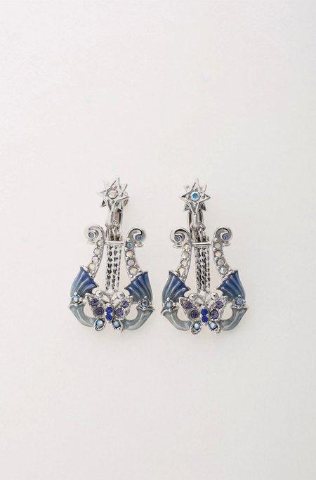 Vendome Silver Butterfly Harp Earrings