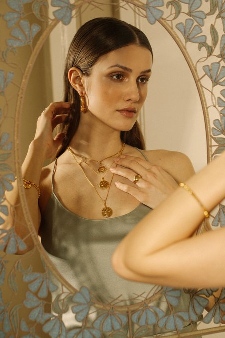 Pamela Card Elephant Gallant Amulet Necklace - 24K Gold Vermeil