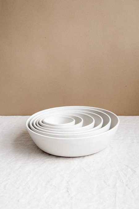 Earthen Nesting Bowls - Snow