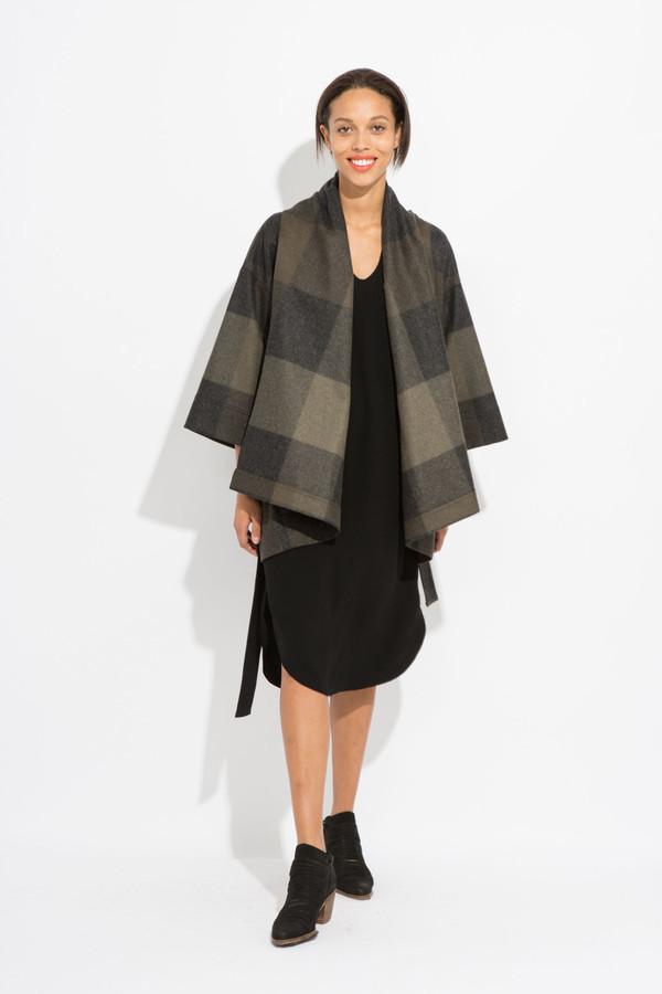 SCHAI Kimono Tie Poncho