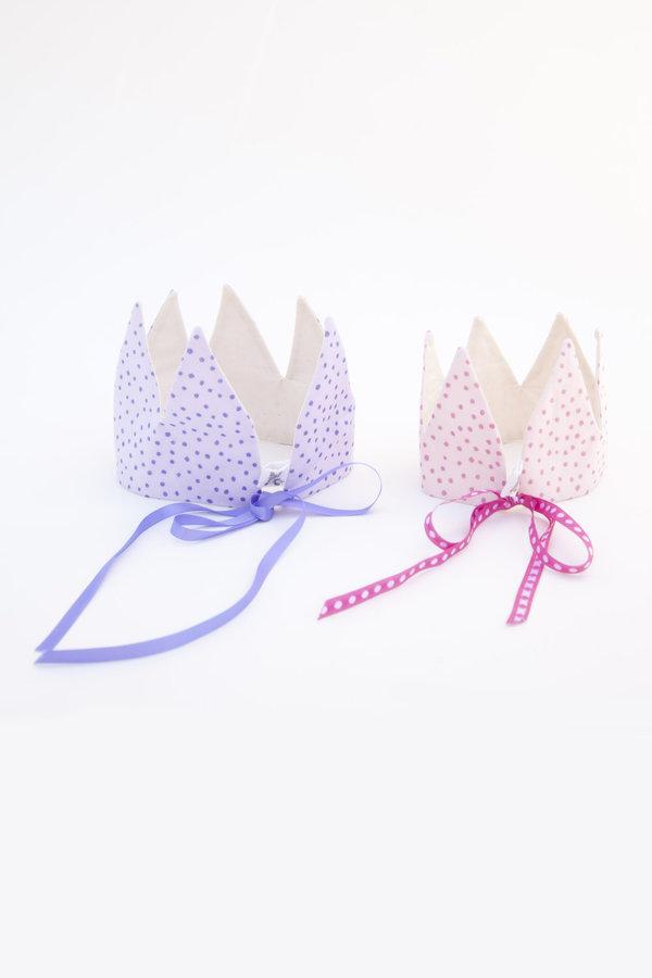 large crown - purple sparkle dots