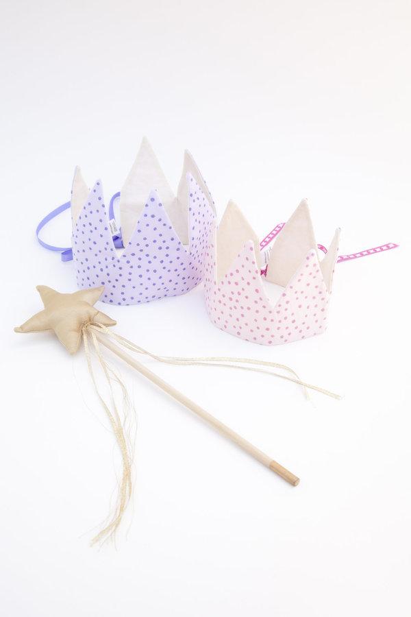 crown - pink sparkle dots