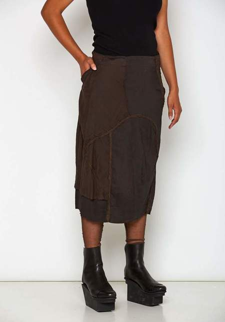 Rundholz Gather Detail Skirt - Rust