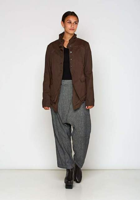 Rundholz Oversized Layered Cotton Jacket - Brown