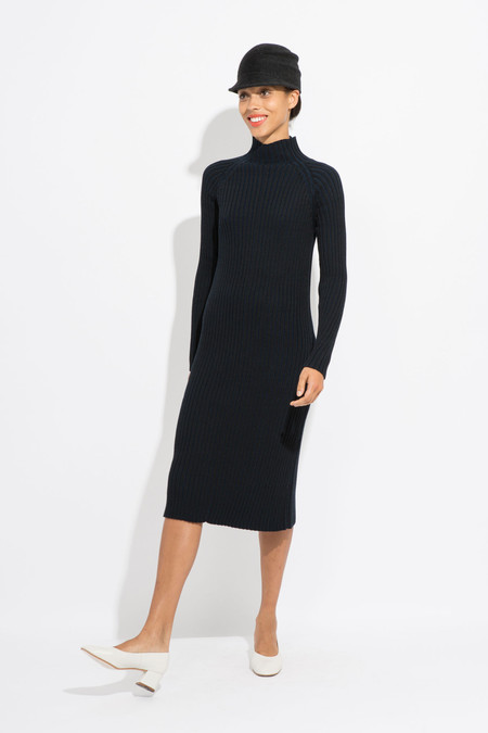 Suzanne Rae Mock Neck Knit Dress
