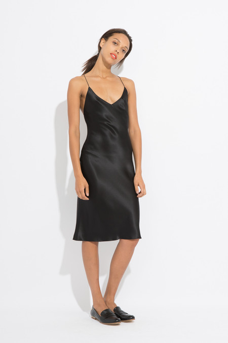 Priscavera Open Back Slip Dress