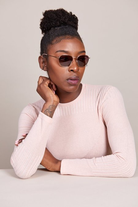 Kate Young for Tura Dylan Sunglasses - Gold