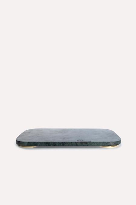 Hawkins New York Mara Small Marble/Brass Serving Board - Green