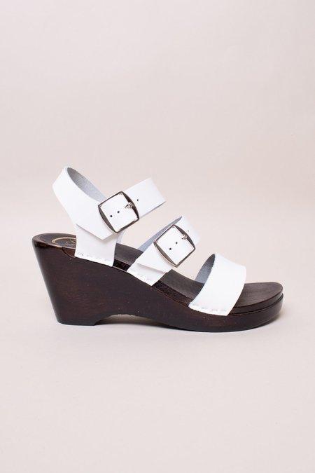 No.6 Rosalia Clog on Wedge - White