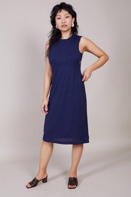 Sayaka Davis Side Cropped Dress - Navy