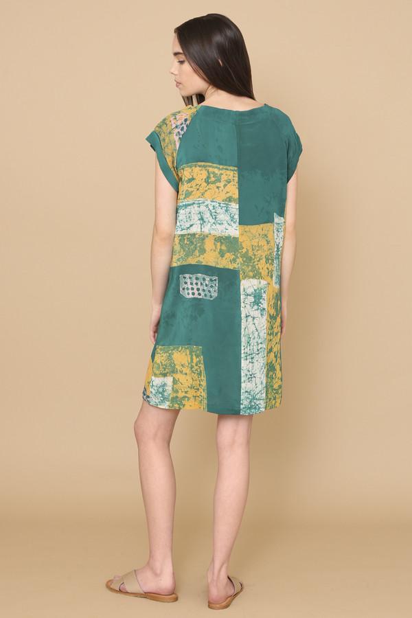 Osei-Duro Deni Raglan Dress in Green Rubics